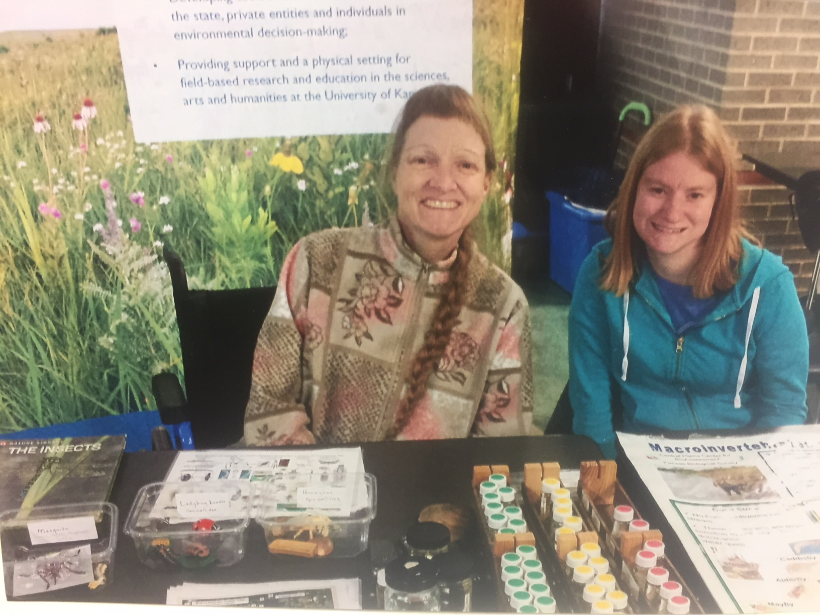 Jennifer Hollday teaches people about aquatic ecology at the 2012 Lawrence, KS Earthday celebration.